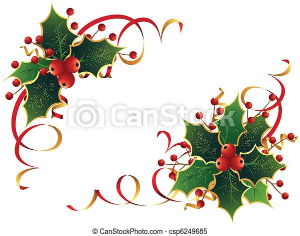호랑가시나무, 크리스마스 - csp6249685