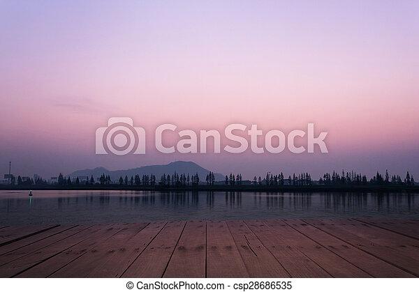 호수, 보이는 상태 - csp28686535