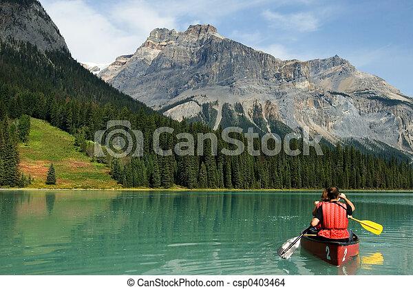 호수, 에메랄드 - csp0403464