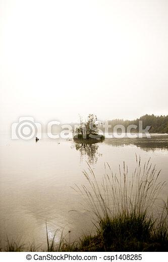 호수, 평화로운 - csp1408285