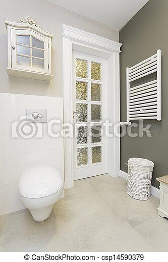 화장실, -, tuscany, 유행 - csp14590379