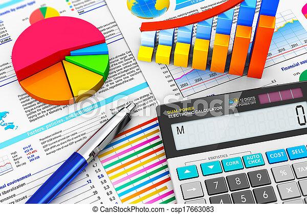회계, 개념, 재정, 사업 - csp17663083