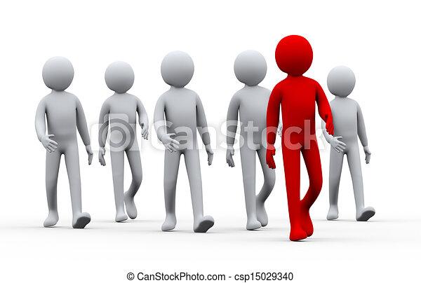 3d unico exitoso hombre - concepto de liderazgo - csp15029340