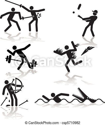 -, ゲーム, オリンピック, ユーモア, 2 - csp5710982