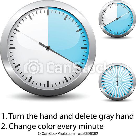 -, タイマー, 1(人・つ), ベクトル, あらゆる, 変化しなさい, 容易である, 時間, 分 - csp8696362