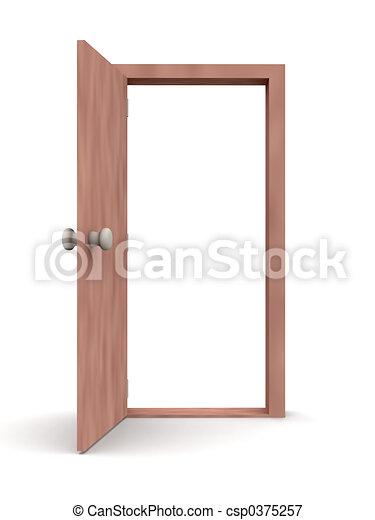 -, ドア, 漫画, 開いた - csp0375257