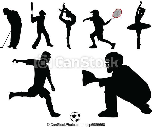 -, ベクトル, スポーツ, コレクション - csp6985660