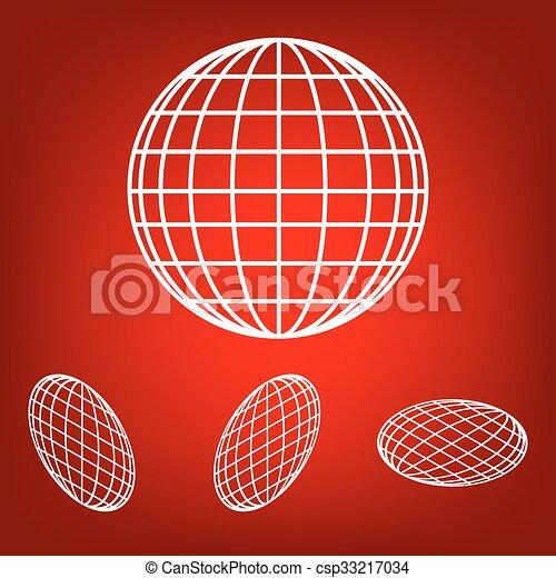 -, ベクトル, 地球, アイコン, セット, 地球 - csp33217034