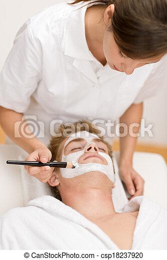 -, マレ, マスク, 化粧品, 美顔術 - csp18237920