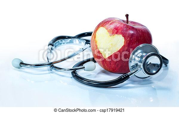 -, 健康, 概念, 愛, アップル - csp17919421