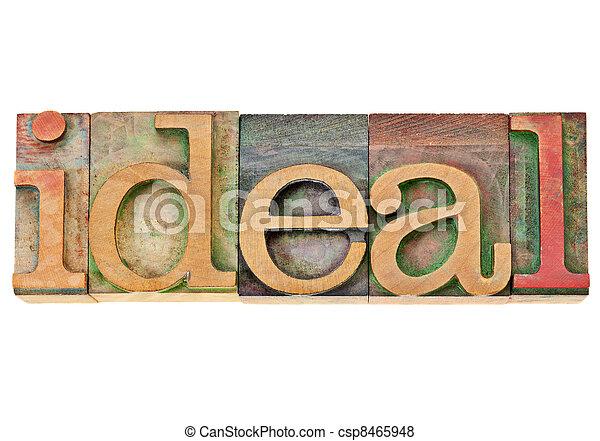 -, 理想, 単語, 凸版印刷, タイプ - csp8465948