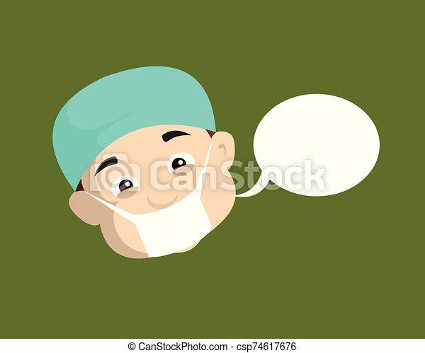 -, 皮膚科医, 医者, スピーチ泡 - csp74617676