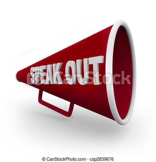 -, 話す, bullhorn, 赤, から - csp2839676
