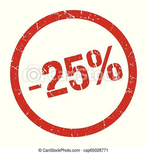 -25% stamp - csp65028771