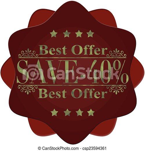 -40%, oprócz, najlepszy, oferta - csp23594361