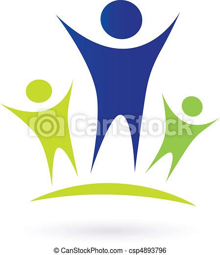 -, adulto, comunidade, crianças - csp4893796