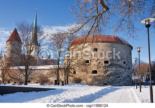 -, antigas, tallinn, estónia, town. - csp11886124