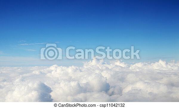 -, atmosfeer, wolken, achtergrond, hemel - csp11042132