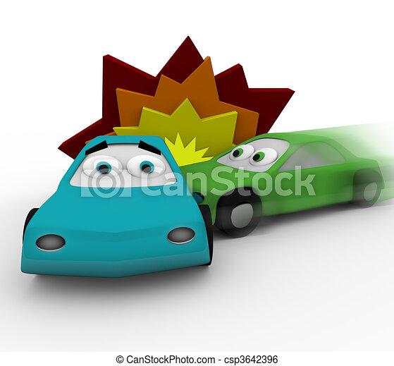 -, autos, unglück, absturz, zwei - csp3642396