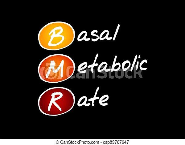 -, basal, tasa, siglas, concepto, metabolic, bmr - csp83767647