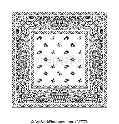 -, biały, 2, bandana - csp11237776
