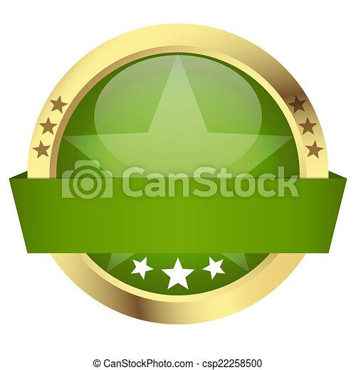 -, bottone, bandiera, sagoma - csp22258500