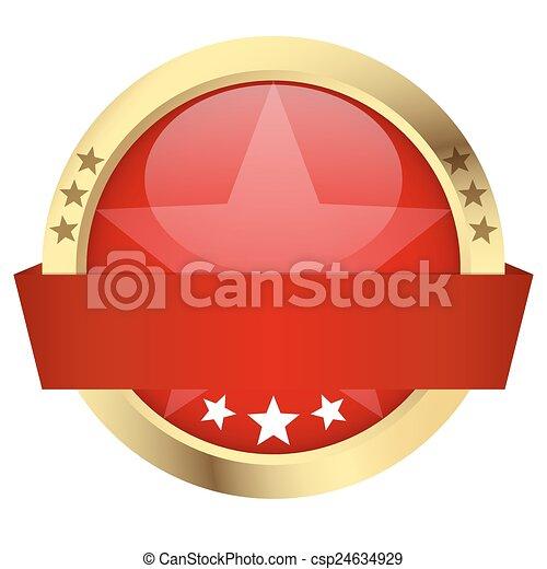 -, bouton, bannière, gabarit - csp24634929