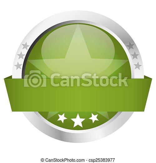 -, bouton, bannière, gabarit - csp25383977