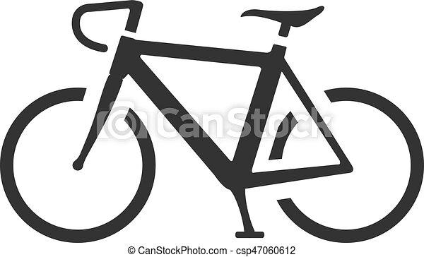 Bw Vélo Route Icône