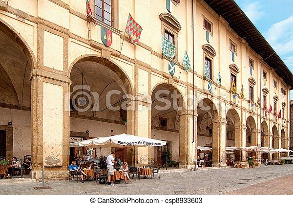 -, caffè, angolo, toscana, pittoresco - csp8933603