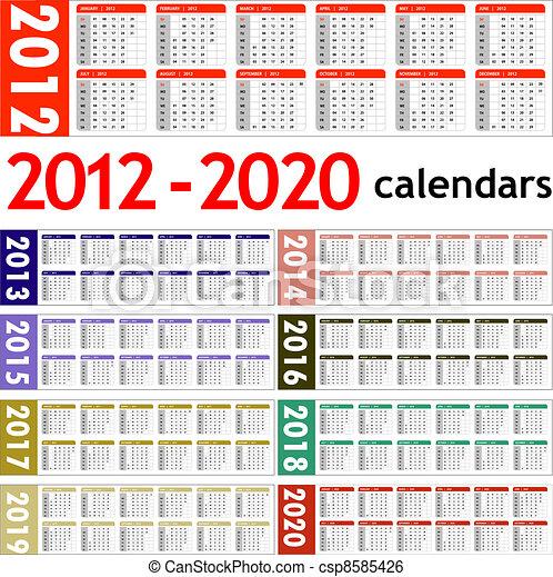 f02a345fb3 calendari, 2020, anno, nuovo, 2012. 2013, calendari, nuovo, 2020 ...