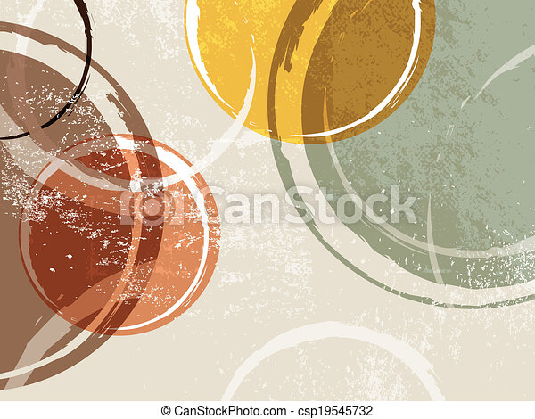 -, cercle, conception, retro, fond - csp19545732