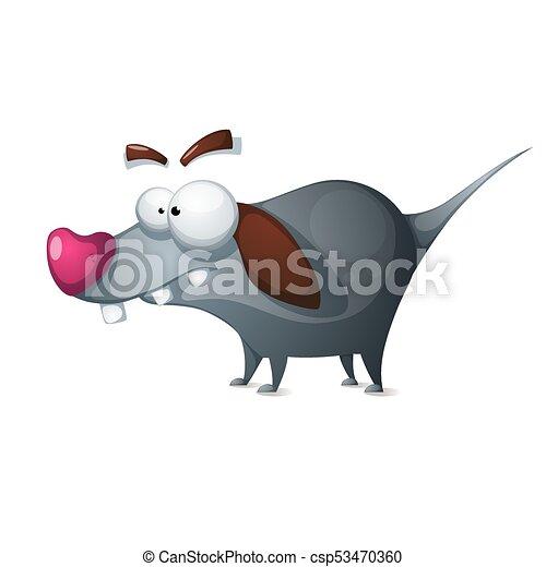 -, characters., 狂気, 漫画, 犬, 面白い - csp53470360