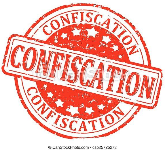 Sello dañado, confiscación - csp25725273