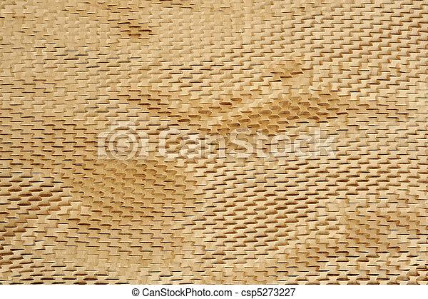 Detalle de textura de papel empaquetado, fondo - csp5273227