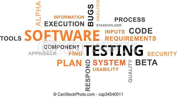 -, essai, logiciel, mot, nuage - csp34540011
