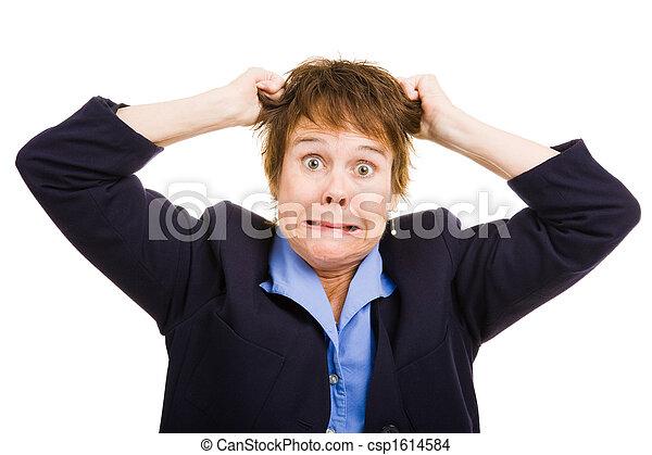 -, femme, frustration, business - csp1614584