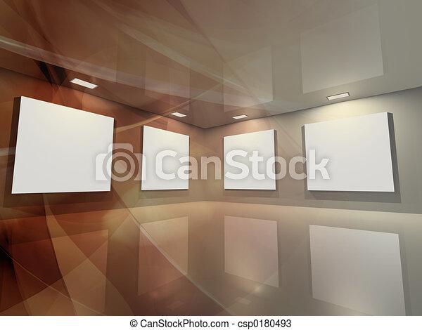 -, galerie, bronze, virtuel - csp0180493