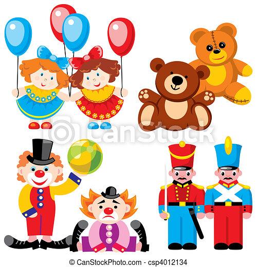 -, gemelli, giocattoli - csp4012134