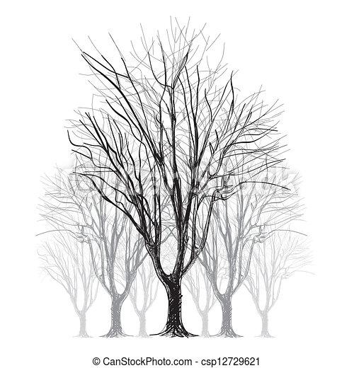 Hojas árbol Mano Grande Sin Descubierto Dibujado Resumen