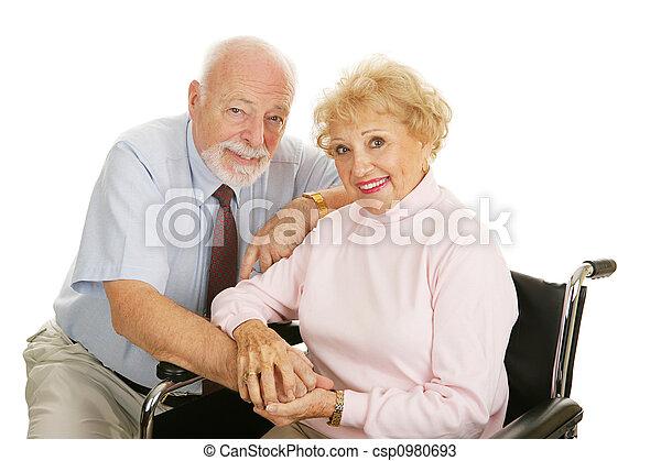 -, idősebb ember, alkalmatlanság, párosít - csp0980693