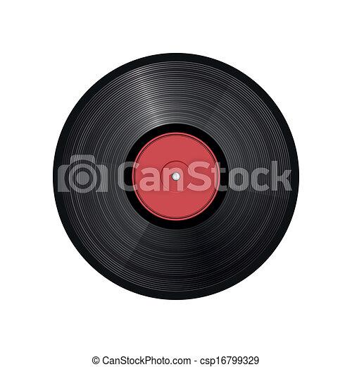 -, illustration, enregistrement, vecteur, retro, vinyle - csp16799329