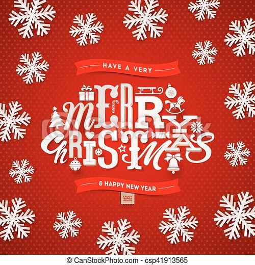 -, ilustração, vetorial, desenho, tipo, natal - csp41913565