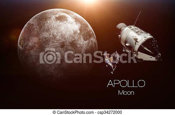 Nave espacial Apollo. Estos elementos de imagen provistos por la NASA. - csp34272000