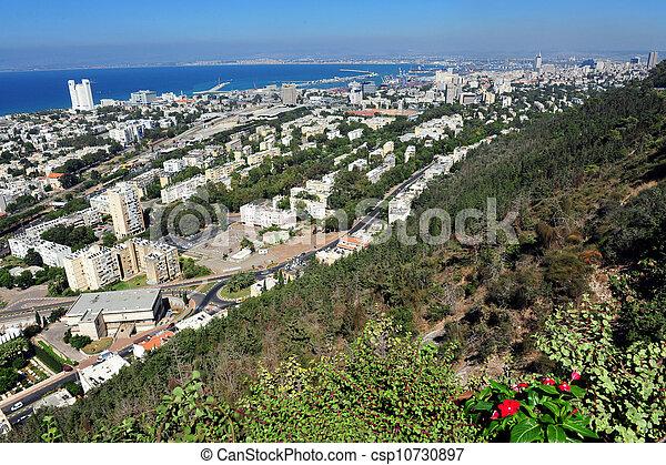 -, israel, haifa, resa, foto - csp10730897