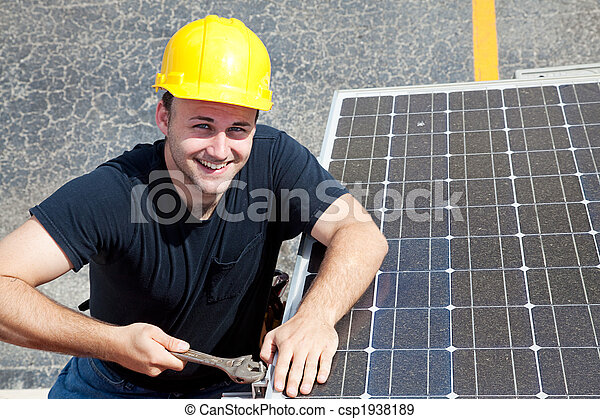 -, lavoro, lavoratore, verde, felice - csp1938189
