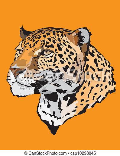 -, leopardo, illustrazione, casato - csp10238045