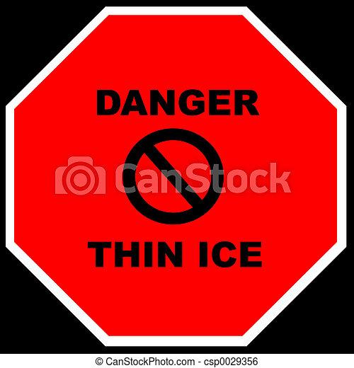 -, magro, ghiaccio, pericolo - csp0029356