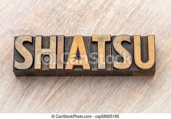 -, mot, shiatsu, bois, asbtract, type - csp58925185