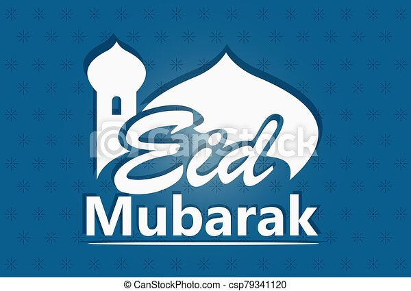 -, mubarak, vector, iliustration, saludos, al-fitr, eid - csp79341120
